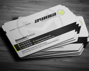 Business Cards Die Cut 1